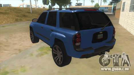 Chevrolet TrailBlazer pour GTA San Andreas sur la vue arrière gauche