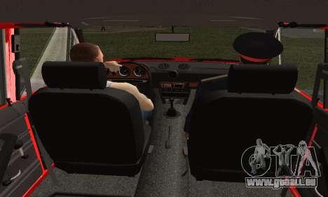 VAZ 2106 de Formation pour GTA San Andreas sur la vue arrière gauche