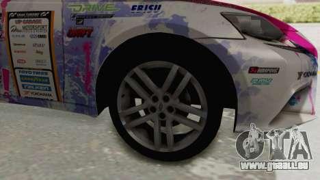 Lexus IS350 FSport Megami no Aqua pour GTA San Andreas vue arrière