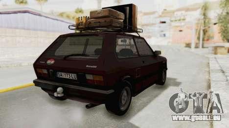 Zastava Yugo Koral 55 pour GTA San Andreas laissé vue
