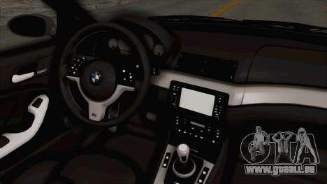 BMW M3 E46 pour GTA San Andreas vue intérieure