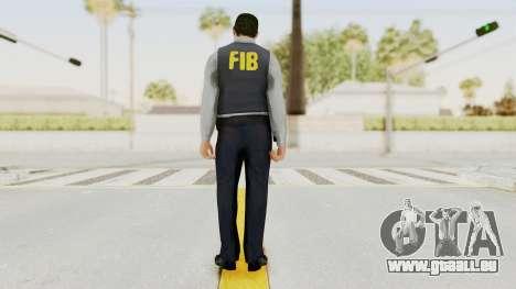 GTA 5 F.I.B. Ped für GTA San Andreas dritten Screenshot
