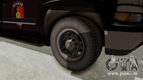 Chevrolet Suburban Indonesian Police RESMOB Unit für GTA San Andreas Rückansicht