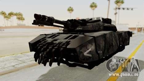 T-470 Hover Tank für GTA San Andreas zurück linke Ansicht