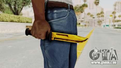 Knife Gold pour GTA San Andreas troisième écran
