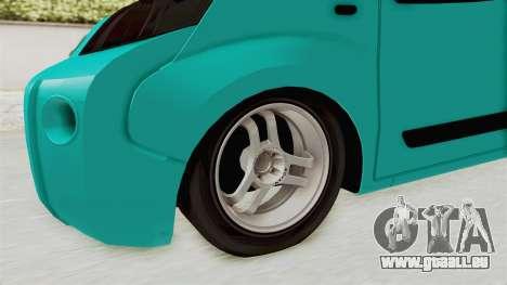 Fiat Fiorino v2 pour GTA San Andreas vue arrière