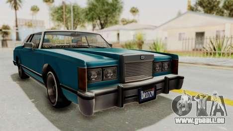 GTA 5 Dundreary Virgo Classic Custom v3 IVF pour GTA San Andreas vue de droite