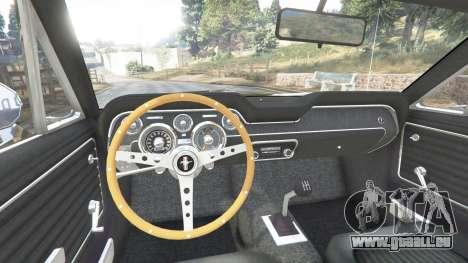 GTA 5 Ford Mustang 1968 v1.1 arrière droit vue de côté