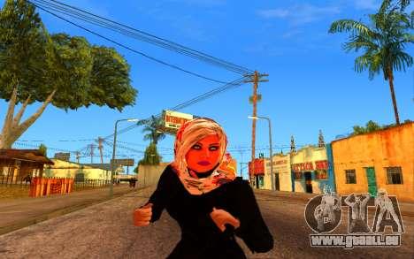 Iranian Girl pour GTA San Andreas troisième écran