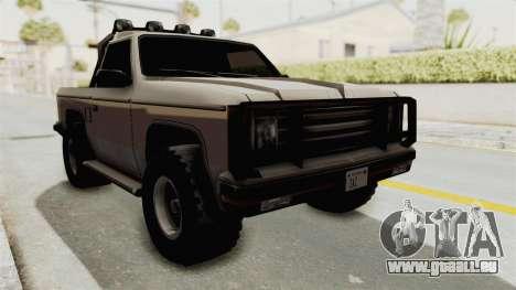 Rancher Style Bronco pour GTA San Andreas vue de droite