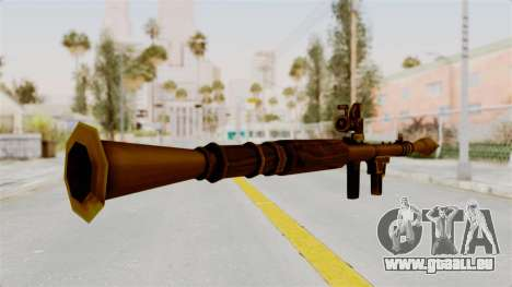 Rocket Launcher Gold für GTA San Andreas dritten Screenshot
