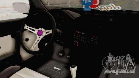 BMW 316i E30 pour GTA San Andreas vue intérieure
