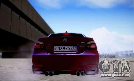 BMW M5 E60 Huracan für GTA San Andreas Rückansicht