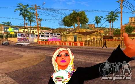 Iranian Girl pour GTA San Andreas deuxième écran