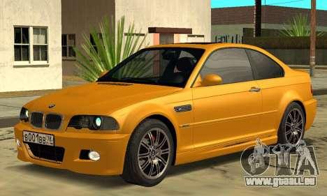 BMW M3 E46 pour GTA San Andreas laissé vue