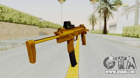 MP7A1 Gold für GTA San Andreas dritten Screenshot