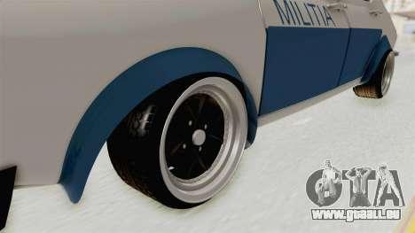 Dacia 1300 Stance Police für GTA San Andreas Rückansicht