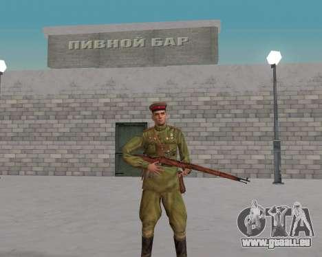 Pak combattants de l'armée rouge pour GTA San Andreas deuxième écran