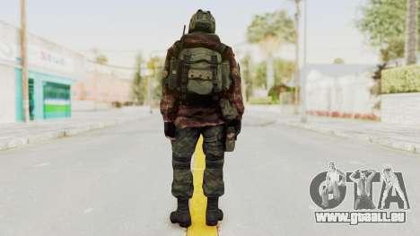 Battery Online Russian Soldier 8 v1 pour GTA San Andreas troisième écran