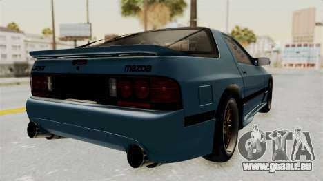 Mazda RX-7 FC3S für GTA San Andreas zurück linke Ansicht