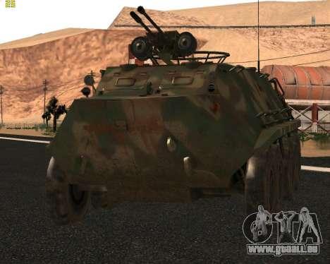 BTR 60 PA pour GTA San Andreas laissé vue