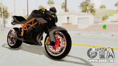 Kawasaki ER 6N Superbike für GTA San Andreas rechten Ansicht