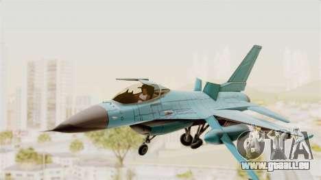 F-16 Fighting Falcon Civilian für GTA San Andreas zurück linke Ansicht