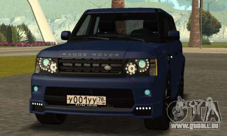 Range Rover Sport Tuning pour GTA San Andreas sur la vue arrière gauche