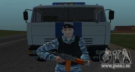 Un Policier Anti-Émeute pour GTA San Andreas troisième écran