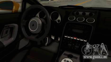 Lamborghini Gallardo 2005 pour GTA San Andreas vue intérieure