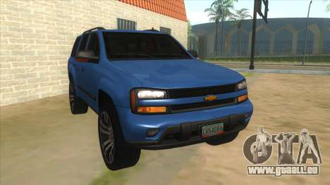 Chevrolet TrailBlazer pour GTA San Andreas vue arrière