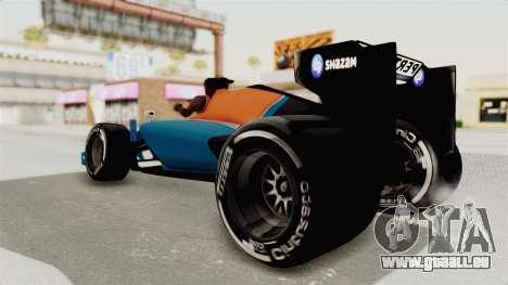 Rio Haryanto 88 F1 Manor Racing pour GTA San Andreas vue de droite