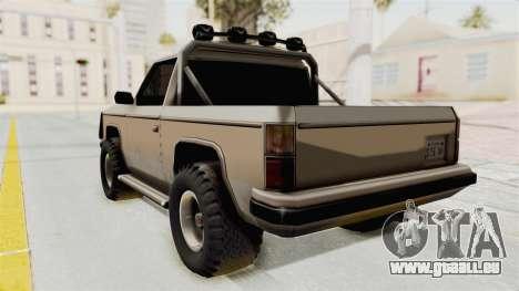 Rancher Style Bronco pour GTA San Andreas laissé vue