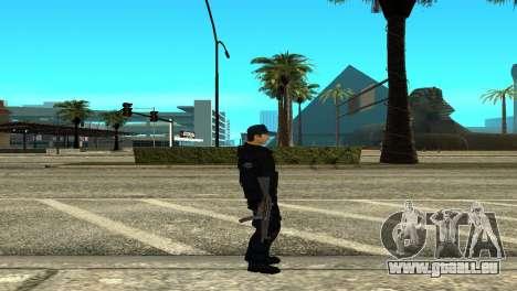 Police SWAT Skin for GTA San Andreas pour GTA San Andreas deuxième écran