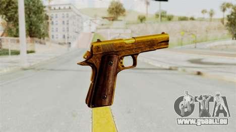 M1911 Gold pour GTA San Andreas troisième écran