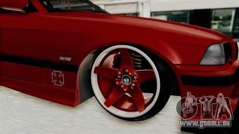 BMW 325i E36 Coupe pour GTA San Andreas vue arrière