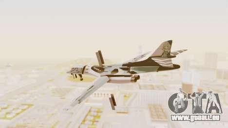 Rockwell B-1B Lancer Tina Sprout Itasha für GTA San Andreas linke Ansicht