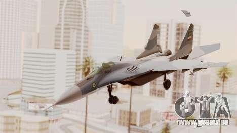 MIG-29A IRIAF für GTA San Andreas zurück linke Ansicht