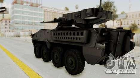 M1128 Mobile Gun System IVF für GTA San Andreas linke Ansicht