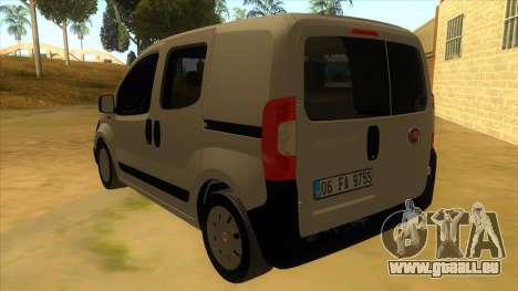 Fiat Fiorino Combi Mix pour GTA San Andreas sur la vue arrière gauche