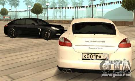 Porsche Panamera Turbo für GTA San Andreas Innenansicht