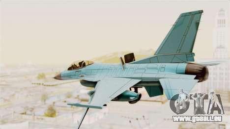 F-16 Fighting Falcon Civilian pour GTA San Andreas vue de droite