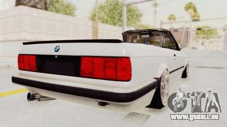 BMW 316i E30 für GTA San Andreas zurück linke Ansicht