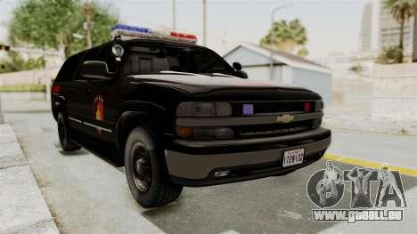 Chevrolet Suburban Indonesian Police RESMOB Unit pour GTA San Andreas