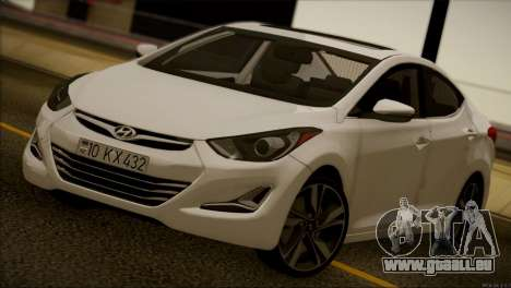 Hyundai ELANTRA 2015 STOCK für GTA San Andreas