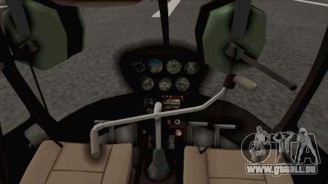 Helicopter de la Policia Nacional del Paraguay für GTA San Andreas Rückansicht