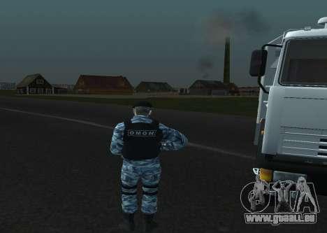 Un Policier Anti-Émeute pour GTA San Andreas quatrième écran