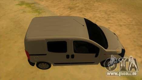Fiat Fiorino Combi Mix pour GTA San Andreas vue intérieure