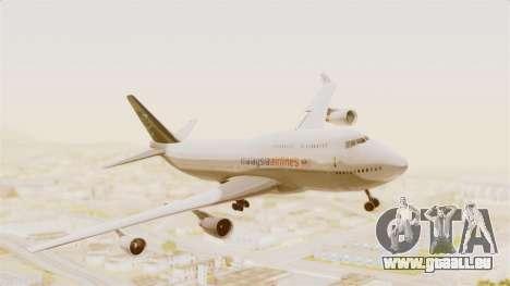 Boeing 747-400 Malaysia Airlines Tabung Haji pour GTA San Andreas sur la vue arrière gauche