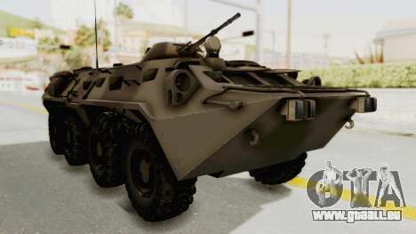 BTR-80 Desert Turkey für GTA San Andreas rechten Ansicht